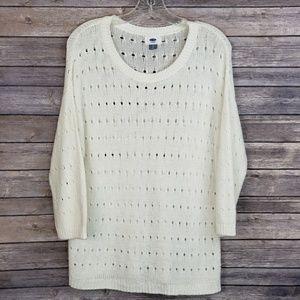 Simple Cream Coloring Sweater